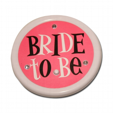 "Blink-Anstecker ""Bride to be"""