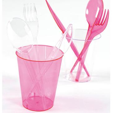 Plastikbecher in Fuchsia