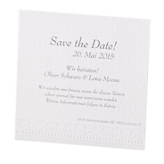Save the Date Karte Marie