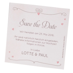 Save-the-Date Karte im Retrolook