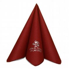 Serviette Airlaid Dinner Bordeaux personalisiert