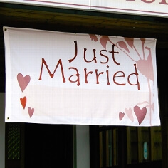 "Flagge ""Just Married"""