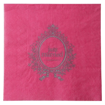 "Servietten ""Just Married"", pink"