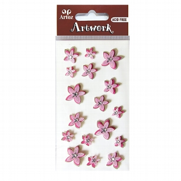 "Sticker ""Artwork Zarte Blumen"" rosa"