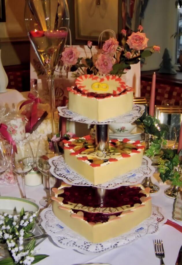 Torten zur Hochzeit von der Konditorei Rühl