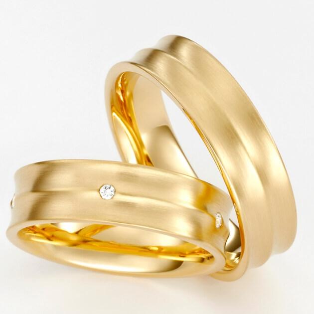 Eheringe in Gold mit Stein