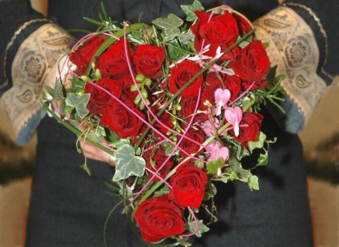 Blumenstrauß in Rot