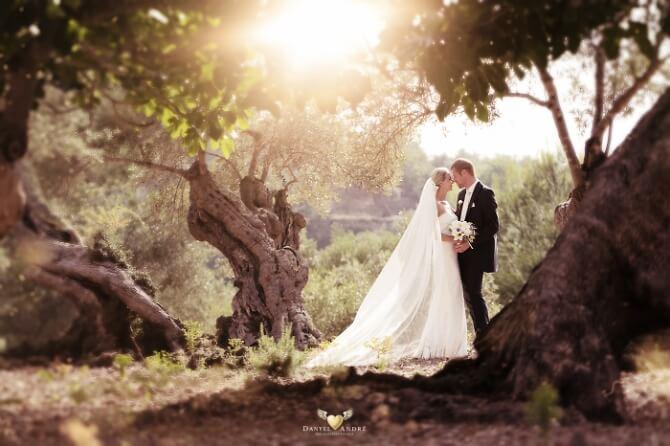 Hochzeitsbilder in der Natur Spaniens