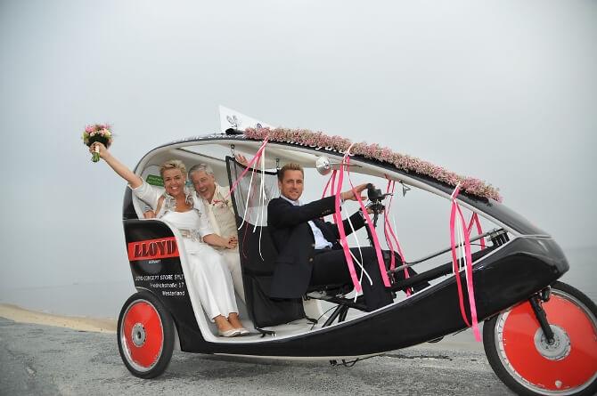 Velo zur Hochzeit