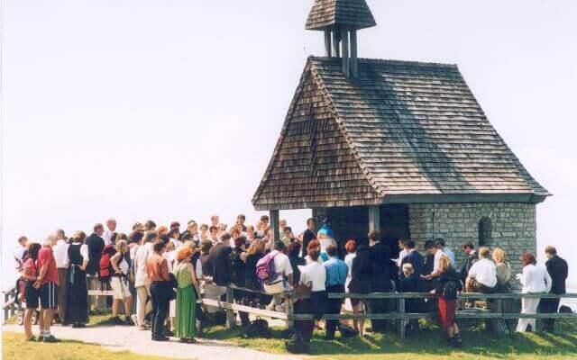 Trauung in der kleinen Kapelle