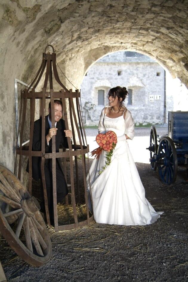 Brautpaar auf der Burg