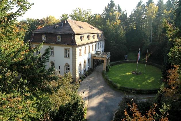 Blick von Oben auf die Villa