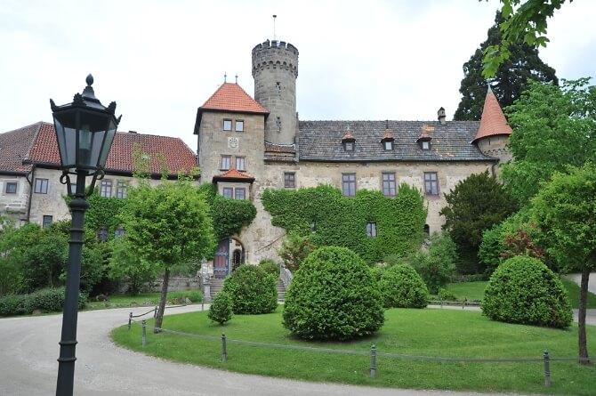 Blick auf das Schloss Hohenstein