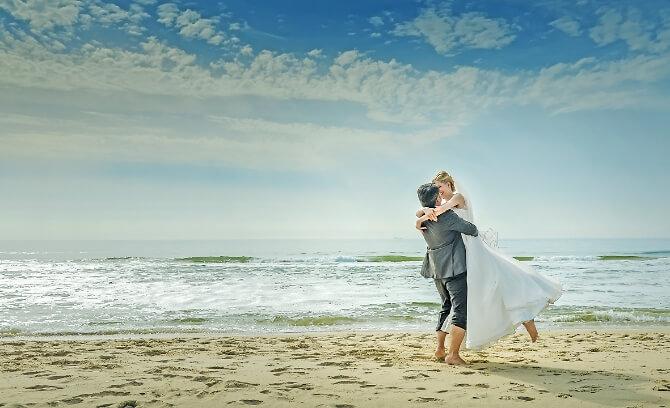 Brautpaar am sylter Strand