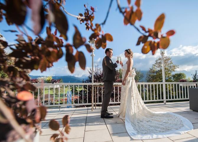 Brautpaar Terasse Sonnenbichl