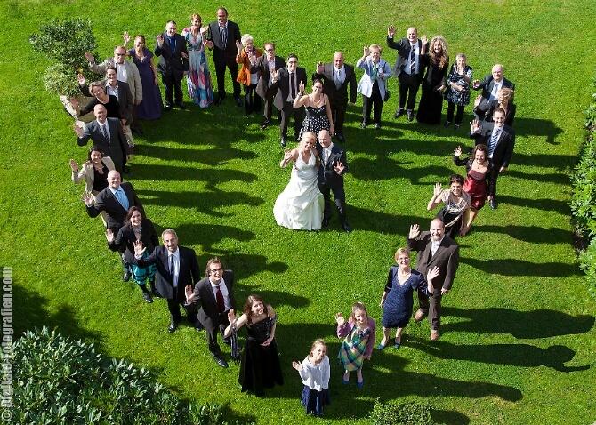 Hochzeitsgäste im Herz
