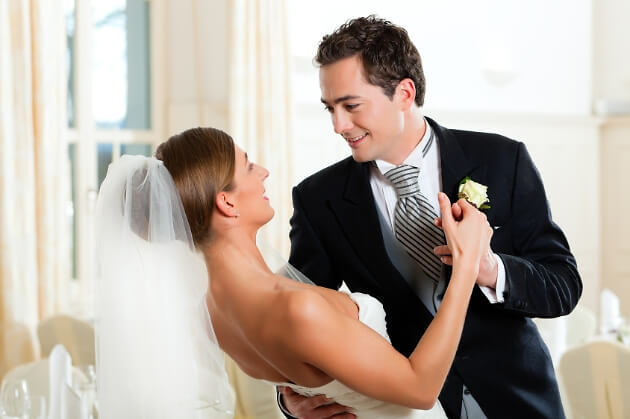 Romantisch zur Hochzeit tanzen