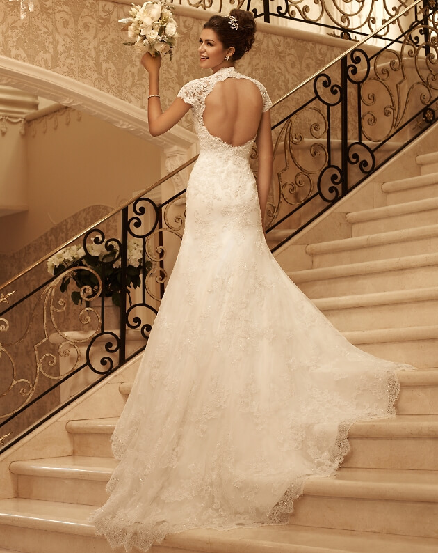 Brautkleid mit Spitze