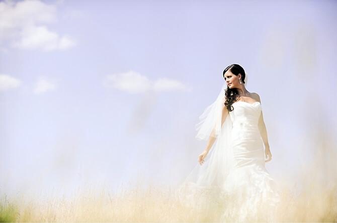 Braut im Freien