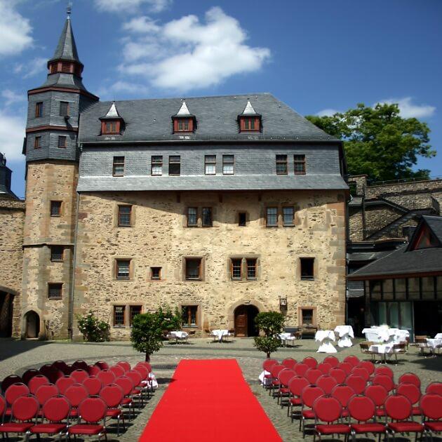 Trauung und Hochzeitsfeier im Schloss