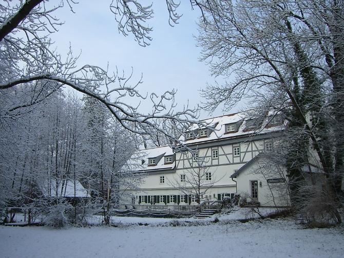 Hotel Insel Mühle im Winter
