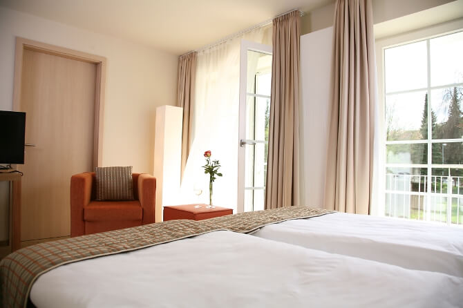 Hotelzimmer im Stempferhof