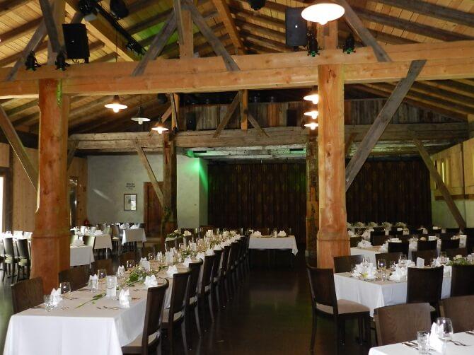 Festsaal für Hochzeitsfeiern