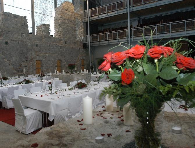 Arena in der Burg für große Feste