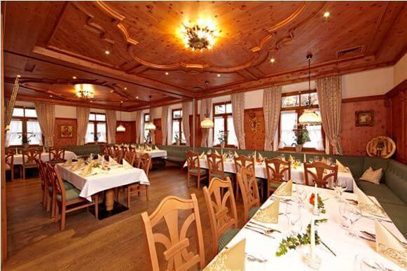 Speisesaal für die Hochzeit