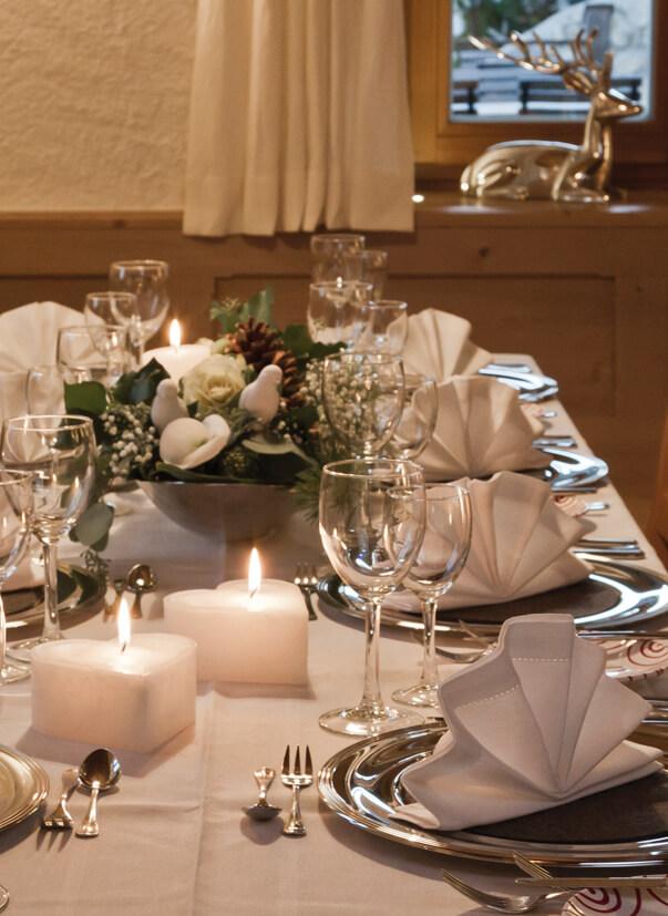 Dekorierte Hochzeitstafel