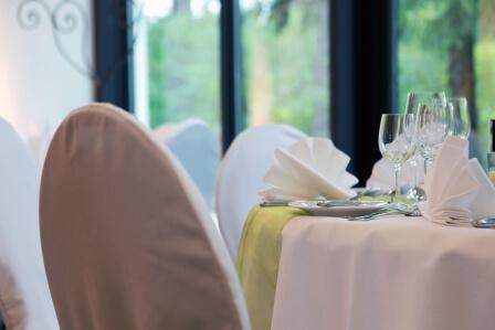 Tischdekoration Hotel Groß Ledder