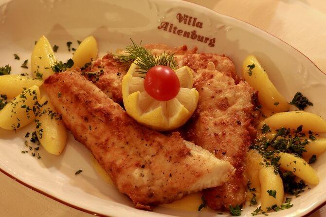 Fischgericht mit Kartoffeln