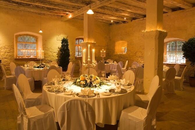 Speisesaal im Schloss Ehrenfels