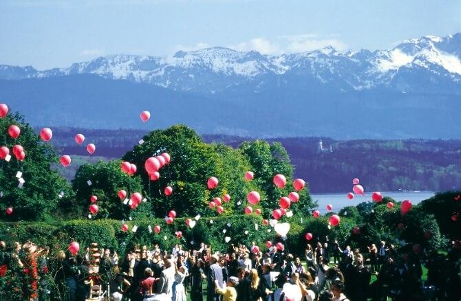 Ballonstart zur Hochzeit