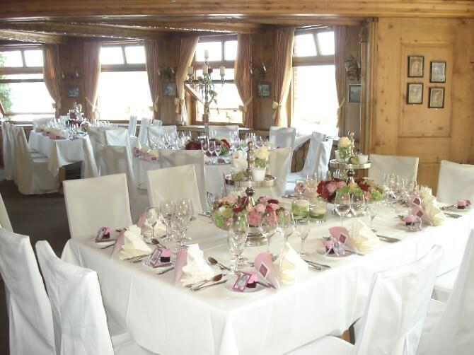 Festsaal für die Hochzeit