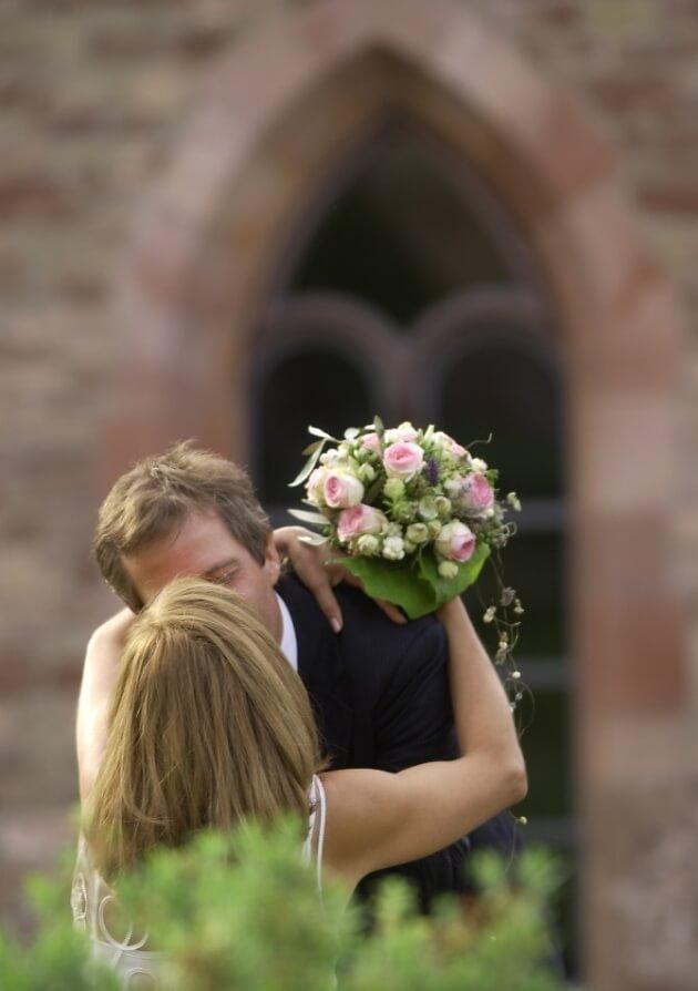 Frisch vermähltes Brautpaar