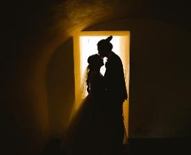 Brautpaar Kuss Schatten