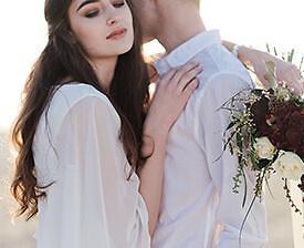 Brautpaar Natur
