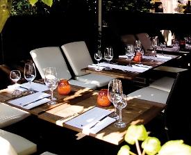 Restaurant Schneckenhaus terrasse