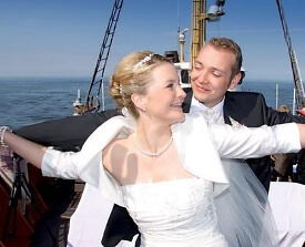 Maritime Hochzeit auf der Great Palucca