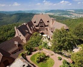 Blick auf das Hotel an der Wartburg
