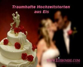 Hochzeitstorten aus Eis