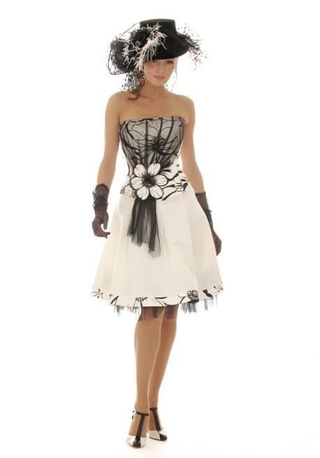 Brautkleid Revanche de la femme Schwarz-Weiß