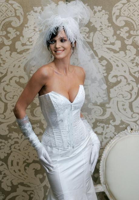 Brautkleid Revanche de la femme Weiße Seide