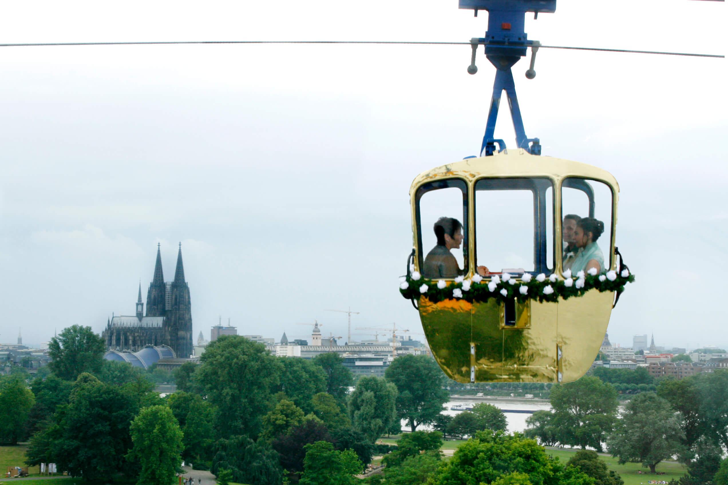Trauung in der Kölner Seilbahn-weddix
