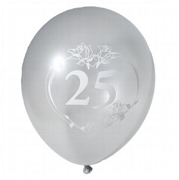 Luftballons für die Silberhochzeit