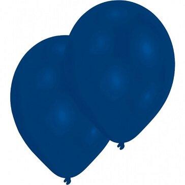 10 Rundballons, blau