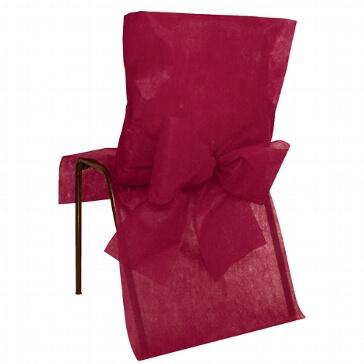 Stuhlhussen in Bordeaux aus Vlies-Stoff