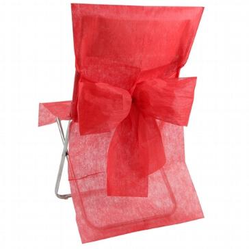 Stuhlhussen in Rot aus Vlies-Stoff