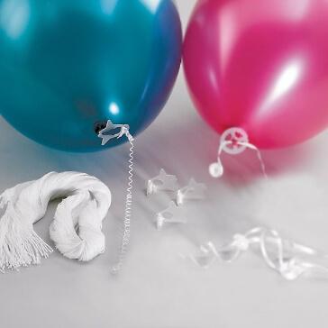 100 Ballon-Schnellverschluesse mit Faden